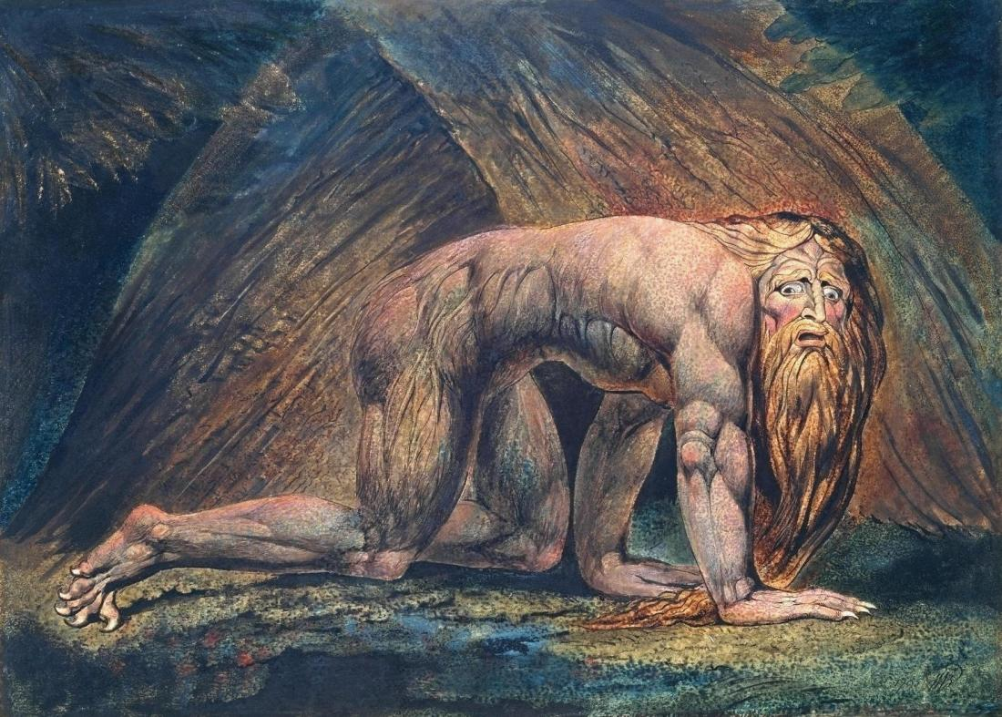 Nebuchadnezzar 1795-c. 1805 by William Blake 1757-1827